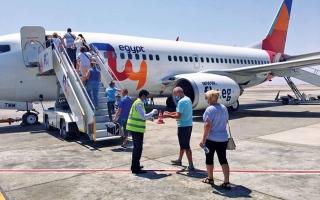 الصورة: الصورة: «فلاي إيجيبت» تدشن رحلاتها إلى مطار رأس الخيمة 2 مايو المقبل