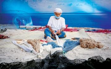 الصورة: الصورة: البيئة البحرية.. صيادون يجففون تعب الماضي في فعاليات «أيام الشارقة التراثية»