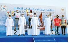 الصورة: الصورة: تألق عبدالعزيز النعيمي والحمادي والراشد والعوضي في ماراثون الدراجات المائية