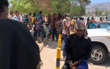 الصورة: الصورة: لاجئون يروون فصولاً من فظائع الحوثيين