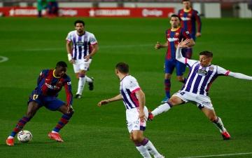 """الصورة: الصورة: ديمبيلي يقود برشلونة للفوز على بلد الوليد والاقتراب من صدارة """"الليغا"""""""