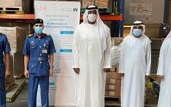 الصورة: الصورة: 2544 قطعة إسعافات أولية دعماً من «الجمارك» لـ«إسعاف دبي»