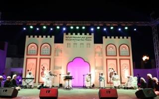 الصورة: الصورة: الغناء اليمني يردد صدى الجمال  على مسرح «أيام الشارقة التراثية»