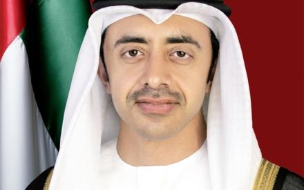 الصورة: الصورة: عبدالله بن زايد يستقبل مبعوث الأمين العام للأمم المتحدة إلى ليبيا