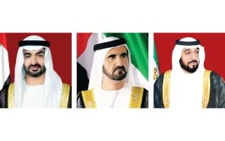 خليفة ومحمد بن راشد ومحمد بن زايد يتلقون تهاني قادة الدول العربية والإسلامية بحلول شهر رمضان