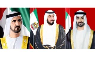 رئيس الدولة ونائبه ومحمد بن زايد يهنئون الرئيس الإيراني بحلول شهر رمضان المبارك
