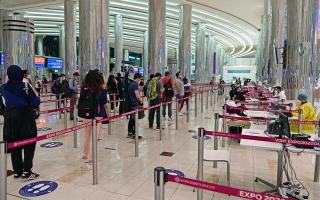 الصورة: الصورة: 5.7 ملايين مسافر عبر مطار دبي في الربع الأول 2021