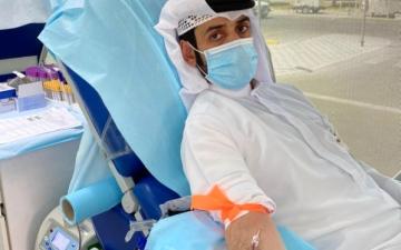 الصورة: الصورة: حملة للتبرع بالدم في الظفرة