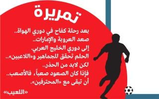 الصورة: الصورة: العروبة والإمارات..  إلى دوري الخليج العربي