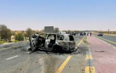 الصورة: الصورة: وفاة مواطن وإمرأة عربية و3 آسيويين بتصادم مركبتين في أبوظبي