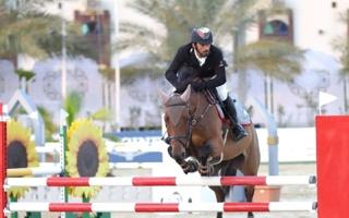 الصورة: الصورة: المهيري بطل «الإمارات لونجين لقفز الحواجز»
