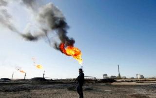 الصورة: الصورة: استهداف بئري نفط  شمالي العراق