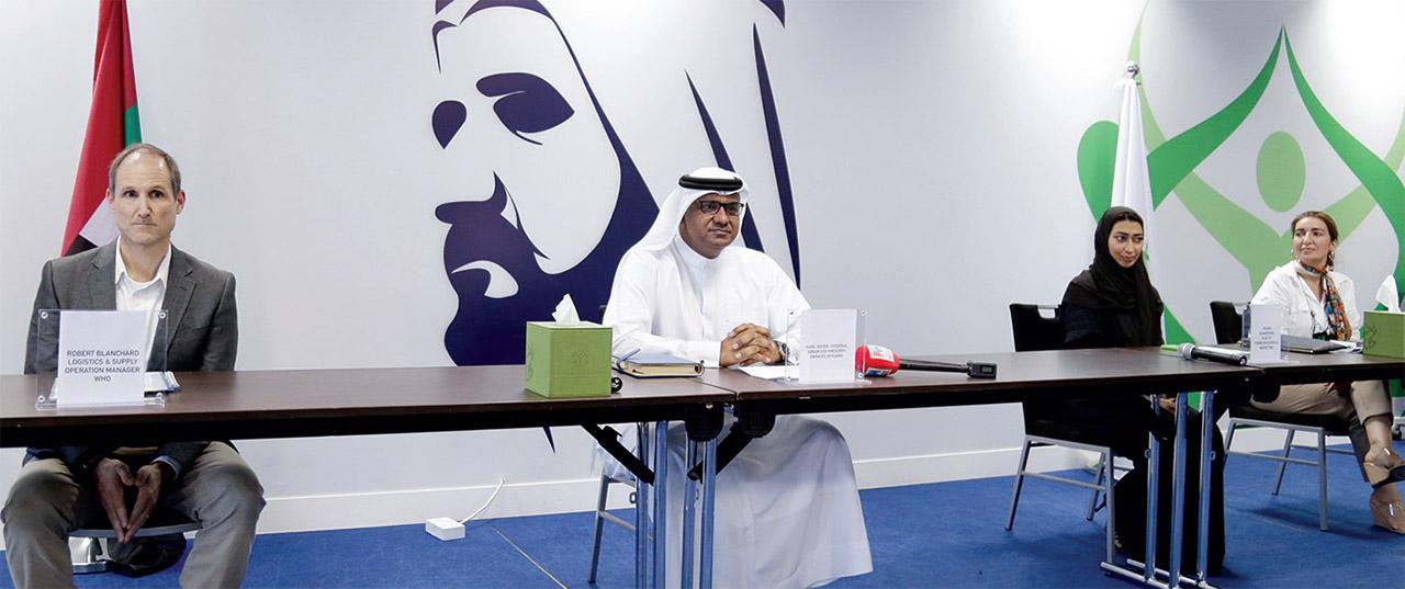 الصورة : نبيل سلطان والمتحدثون خلال المؤتمر الصحافي   تصوير: زافيير ويلسون