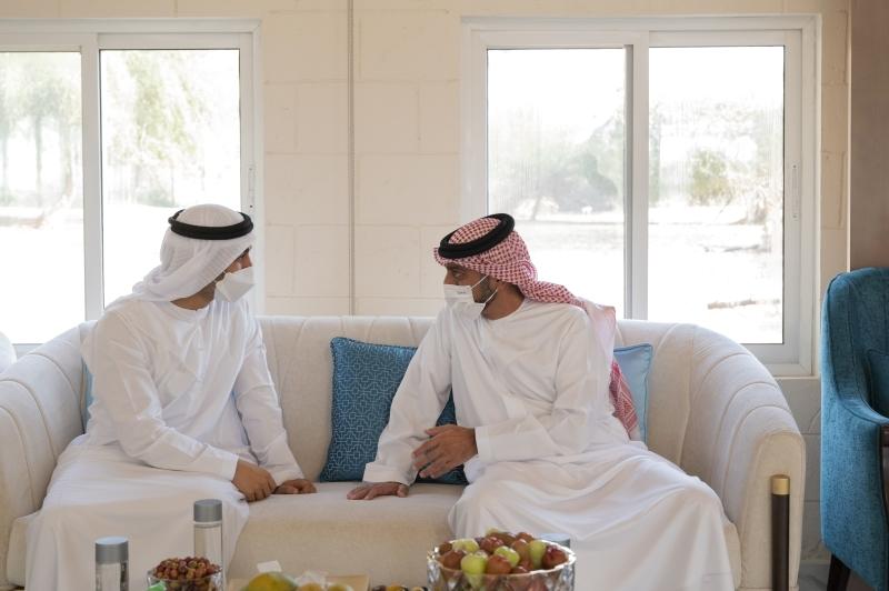 الصورة : عمار النعيمي وحمدان بن محمد بن زايد خلال اللقاء
