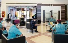 الصورة: الصورة: الوقوف على استمرارية الأعمال في مركز شرطة كلباء الشامل