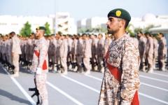 الصورة: الصورة: تخريج دورة حرس الرئاسة التخصصية لمجندي الخدمة الوطنية