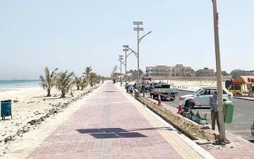 الصورة: الصورة: رحلة عائلية إلى شاطئ أم القيوين تنتهي بمأساة