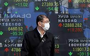 الصورة: الصورة: المؤشر الياباني يغلق مرتفعاً بفضل آمال التعافي الاقتصادي