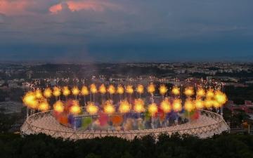 الصورة: الصورة: افتتاح كأس أمم أوروبا مع صافرة انطلاق مباراة إيطاليا وتركيا