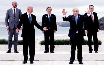 الصورة: الصورة: قادة مجموعة السبع يؤيدون فرض ضرائب على الشركات الكبرى