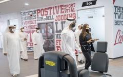 الصورة: الصورة: حمدان بن محمد بن زايد  يفتتح أكبر صالة  رياضية في أبوظبي