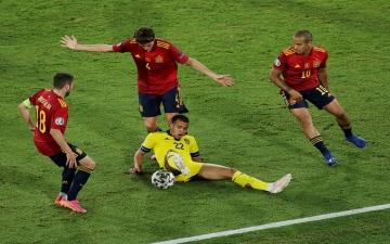 """الصورة: الصورة: انتهاء مواجهة إسبانيا والسويد في """"أمم أوروبا"""" بتعادل سلبي"""