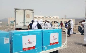 الصورة: الصورة: الإمارات ترسل 60 ألف جرعة من لقاح كوفيد19 إلى سقطرى