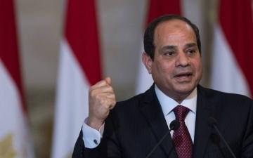 الصورة: الصورة: الرئيس المصري يستقبل وزراء ومسؤولي الإعلام العرب