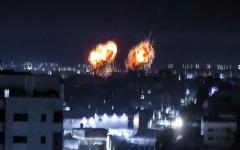 الصورة: الصورة: غارات إسرائيلية جديدة على قطاع غزة