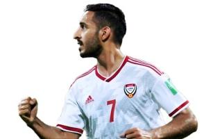 الصورة: الصورة: ترشيح مبخوت للمنافسة في استفتاء أفضل لاعبي التصفيات الآسيوية