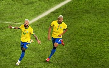 الصورة: الصورة: نيمار يتخطى «الظاهرة» ويهدد عرش «الملك» مع المنتخب البرازيلي