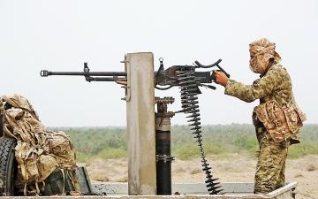 الصورة: الصورة: القوات المشتركة تحبط محاولات الحوثي استحداث خنادق في الحديدة
