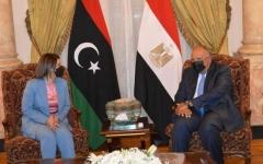 الصورة: الصورة: شكري والمنقوش يتفقان على ضرورة إخراج المرتزقة من ليبيا