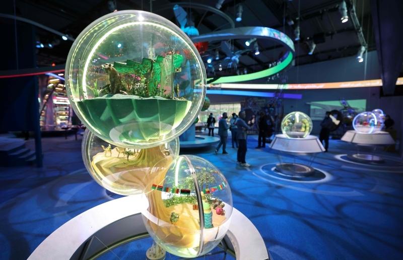الصورة : جانب من قاعة الاستدامة في إكسبو دبي 2020 | أرشيفية