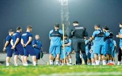 الصورة: الصورة: «الأزرق» يستعد للبحرين في ملحق كأس العرب