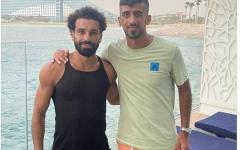 الصورة: الصورة: ماجد حسن والكمالي  يلتقيان  محمد صلاح في دبي