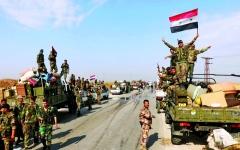 الصورة: الصورة: الجيش السوري يمهّد للسيطرة على مناطق استراتيجية