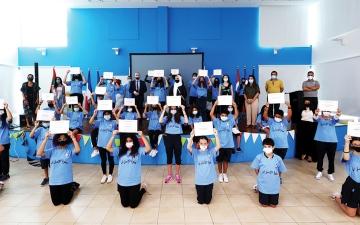 الصورة: الصورة: 44 طالباً يروجون للدولة بـ 5 لغات في «حلوة الإمارات»