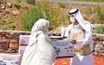 الصورة: الصورة: 4.7 ملايين وجبة وزعتها «100 مليون وجبة» للاجئين بالأردن