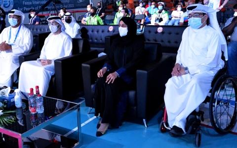 الصورة: الصورة: حصة بو حميد تشهد فعاليات دولية «فزاع لأصحاب الهمم»