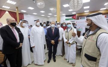 الصورة: الصورة: لاجئو «مريجيب الفهود» يثمنون جهود الإمارات في توفير اللقاحات