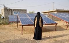 الصورة: الصورة: إيمان هادي.. يمنية تتحدى الحرب بالطاقة الشمسية