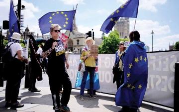 """الصورة: الصورة: بعد 5 سنوات من """"استفتاء بريكست"""".. بريطانيا مشوشة ومنقسمة"""