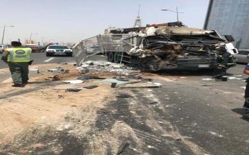 الصورة: الصورة: إصابة 6 أشخاص في حوادث مرورية خلال يومين في دبي