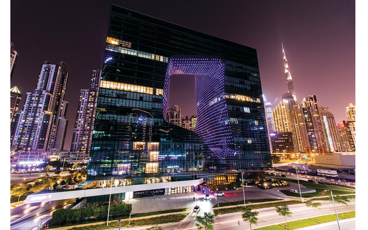 الصورة : فندق «مي دبي » بمبنى «ذا أوبس » مصمم على هيئة مكعب عائم