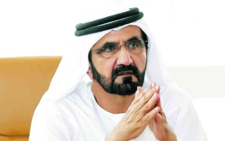 الصورة: الصورة: محمد بن راشد يعتمد قراراً بتشكيل مجلس إدارة هيئة الإمارات لسباق الخيل برئاسة منصور بن زايد