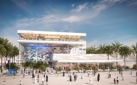 الصورة: الصورة: «لو فيغارو»: جناح فرنسا في «إكسبو دبي» يتميز بتصميم مثالي