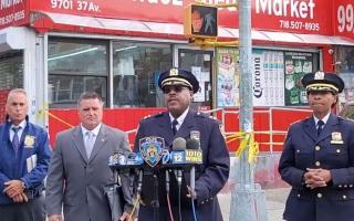 الصورة: الصورة: إصابة 10 أشخاص في إطلاق نار بنيويورك