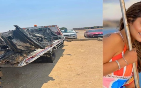 """الصورة: الصورة: """" أنا بموت ادعولى"""".. فنانة مصرية شهيرة تتعرض لحادث مروع"""