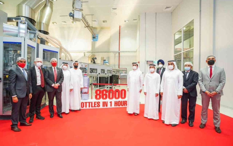 """الصورة: الصورة: """"ماي دبي"""" تطلق أسرع خط إنتاج للمياه المعبأة في المنطقة"""